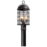 Troy Lighting Charlemagne 3 Light Post Lantern in Aged Pewter P4435