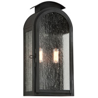 Troy Lighting Copley Square 2 Light Outdoor Wall Sconce in Charred Iron B4402CI