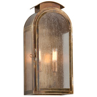 Copley Square 2 Light 18 inch Historic Brass Outdoor Wall Sconce in Incandescent