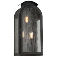 Copley Square 3 Light 21 inch Charred Iron Outdoor Wall Sconce in Incandescent