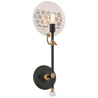 Troy Lighting B4691 Dinner Date 1 Light 8 inch Dark Bronze with Antique Brass Wall Sconce Wall Light