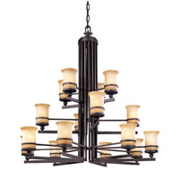 Troy Lighting Ranier 16 Light Fluorescent Chandelier in Natural Rust FF1232NR