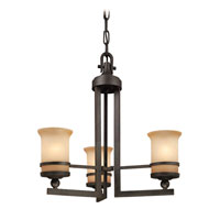 Troy Lighting Ranier 3 Light Chandelier in Natural Rust F1233NR photo thumbnail