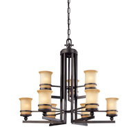 Troy Lighting Ranier 9 Light Chandelier in Natural Rust F1239NR