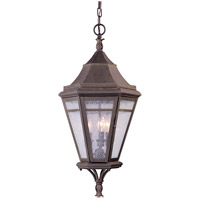 Troy Lighting Morgan Hill 3 Light Outdoor Hanging Lantern in Natural Rust F1276NR