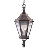 Troy Lighting Morgan Hill 4 Light Outdoor Hanging Lantern in Natural Rust F1277NR