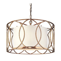 Troy Lighting F1285SG Sausalito 5 Light 25 inch Silver Gold Chandelier Ceiling Light  photo thumbnail