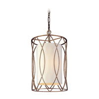 Troy Lighting Sausalito 3 Light Entry Chandelier in Silver Gold F1287SG