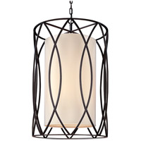 Troy Lighting F1288DB Sausalito 8 Light 22 inch Deep Bronze Pendant Ceiling Light