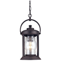 Troy Lighting Station Square 1 Light Outdoor Hanging Lantern in Natural Rust F1417NR photo thumbnail