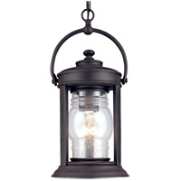 Troy Lighting Station Square 1 Light Outdoor Hanging Lantern in Natural Rust F1418NR photo thumbnail