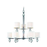Troy Lighting Bentley 9 Light Chandelier in Polish Chrome F1589PC