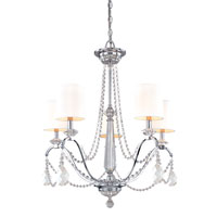 Troy Lighting Fountainbleau 5 Light Chandelier in Polish Chrome F1645PC