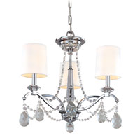 Troy Lighting Fountainbleau 3 Light Chandelier in Polish Chrome F1646PC