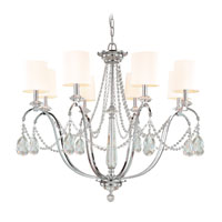 Troy Lighting Fountainbleau 8 Light Chandelier in Polish Chrome F1648PC