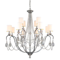 Troy Lighting Fountainbleau 12 Light Chandelier in Polish Chrome F1649PC