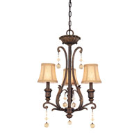 Troy Aragon 3Lt Chandelier Ceiling Mount Hanging In Venetian Bronze F1653VB photo thumbnail