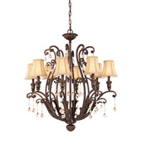 Troy Aragon 8Lt Chandelier Ceiling Mount Hanging In Venetian Bronze F1658VB photo thumbnail