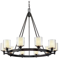 Troy Lighting F1710FR Arcadia 10 Light 40 inch French Iron Chandelier Ceiling Light
