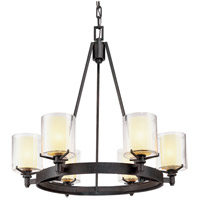 Arcadia 6 Light 27 inch French Iron Chandelier Ceiling Light