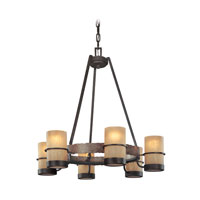 Bamboo 6 Light 28 inch Bamboo Bronze Chandelier Ceiling Light