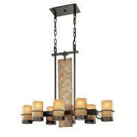 Bamboo 8 Light 36 inch Bamboo Bronze Island Ceiling Light