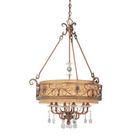 Troy Lighting Heirloom 6 Light Chandelier in Sunset Bronze F1956SBZ
