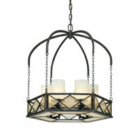 Harlequin 6 Light 27 inch Harlequin Bronze Chandelier Ceiling Light