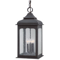 Henry Street 4 Light 11 inch Colonial Iron Outdoor Hanging Lantern in Incandescent