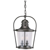 Troy Lighting Guild Hall 2 Light Outdoor Hanging Lantern in English Bronze F2037EB