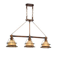 Bristol Bay 3 Light 45 inch Sunset Bronze Island Ceiling Light