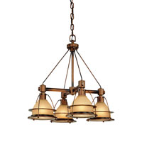 Bristol Bay 4 Light 26 inch Sunset Bronze Chandelier Ceiling Light