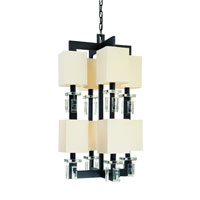 Troy Avanti 8Lt Pendant Entry Large Ceiling Mount Pendant In Anthracite And Cryst F2178ATR photo thumbnail