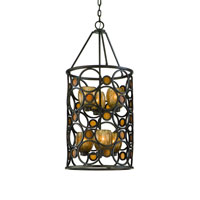 Troy Lighting Soleil 6 Light Pendant Entry in Soleil Bronze F2227SB