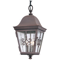 Troy Lighting Markham 3 Light Outdoor Hanger in Weathered Bronze F2358WB