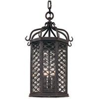 Los Olivos 3 Light 12 inch Old Iron Outdoor Hanging Lantern in Incandescent