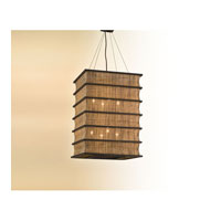 Troy Lighting Bento 8 Light Pendant Entry in Natural Wood F2396 photo thumbnail