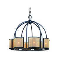 Troy Lighting Chinois 8 Light Pendant in Federal Bronze F2418FBZ