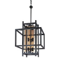 Troy Lighting Crosby 6 Light Pendant in French Iron F2493FI