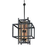 Troy Lighting F2494FI Crosby 8 Light 22 inch French Iron Pendant Ceiling Light