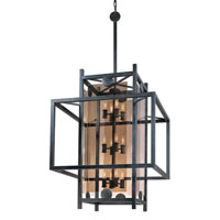 Troy Lighting F2495FI Crosby 12 Light 28 inch French Iron Pendant Ceiling Light