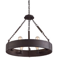 Troy Lighting Jackson 6 Light Pendant in Copper Bronze F2503CB