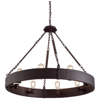 Troy Lighting Jackson 8 Light Pendant in Copper Bronze F2504CB