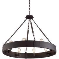 Troy Lighting F2504CB Jackson 8 Light 36 inch Copper Bronze Pendant Ceiling Light