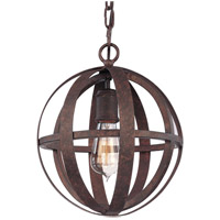 Flatiron 1 Light 10 inch Weathered Iron Pendant Ceiling Light