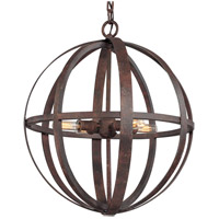 Flatiron 4 Light 19 inch Weathered Iron Pendant Ceiling Light