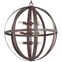 Flatiron 12 Light 30 inch Weathered Iron Pendant Ceiling Light