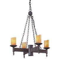 Academy 4 Light 24 inch Weathered Rust Chandelier Ceiling Light