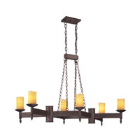 Troy Lighting Academy 6 Light Pendant Island in Weathered Rust F2586