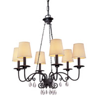 Troy Lighting La Rochelle 6 Light Chandelier in La Rochelle Bronze F2656